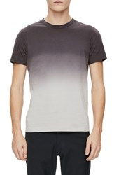 Theory Men's Gaskell Dip Dye Ombre T Shirt Ember Multi
