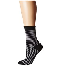 Plush Thin Rolled Fleece Socks Charcoal Stripe Women's Crew Cut Socks Shoes Gray