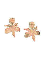 Lele Sadoughi Paper Lily Earrings Yellow