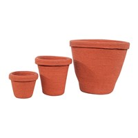 Lorena Canals Terracotta Basket Pots Set Of 3