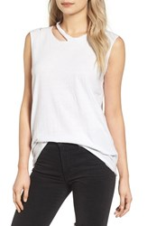 Pam And Gela Women's Slash Neck Muscle Tee