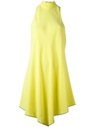 Proenza Schouler Handkerchief Hem Dress Yellow And Orange