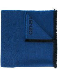 Kenzo 'Tie And Dye' Scarf Blue