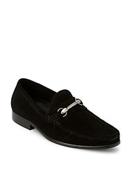 Saks Fifth Avenue Classic Suede Loafers Black