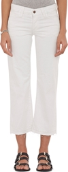 Simon Miller Frayed Lamere Cropped Jeans White