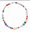Irene Neuwirth Oak 18K Rose And White Gold Necklace With Tourmaline Aqua Sunstone Fire Opal Pink Opal Rainbo Moonstone Emerald Opal Fc Diamonds Multi