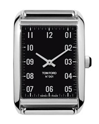 Tom Ford Large Polished Stainless Steel Watch Head Black Silver