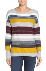 Caslonr Women's Caslon Back Button Stripe Knit Sweater