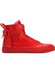 Buscemi Key And Padlock Sneakers Red