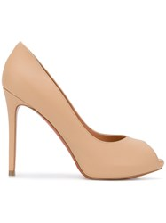Baldinini Open Toe Pumps Women Calf Leather Leather 39.5 Nude Neutrals