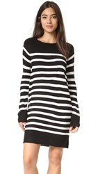 Cupcakes And Cashmere Grand View Striped Sweater Dress Black