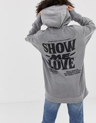 Cheap Monday Love Oversized Hoodie With Organic Cotton Grey Ml