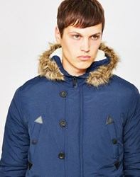 The Idle Man Nylon Parka Navy