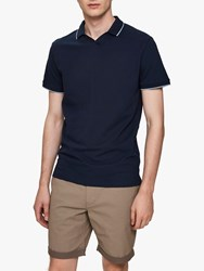 Selected Homme King Tipped Polo Shirt Dark Sapphire