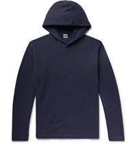 Massimo Alba Wool And Cashmere Blend Hoodie Navy