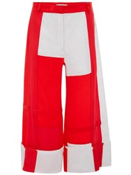 J.W.Anderson Jw Anderson Pillarbox Red Patchwork Panelled Trousers