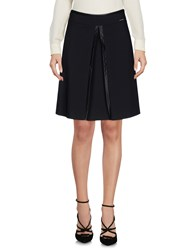Carla Montanarini Knee Length Skirts Black