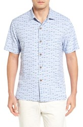 Tommy Bahama Men's Big And Tall Geo Chaser Silk Blend Camp Shirt