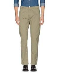 Solid Casual Pants Military Green