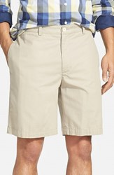 Vineyard Vines Men's Big And Tall 'Summer' 9 Inch Flat Front Twill Shorts Khaki Beige