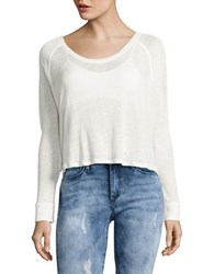Free People Textured Hi Lo Top White