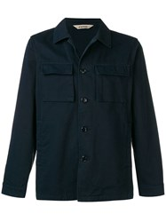 Aspesi Loose Fit Shirt Jacket Blue