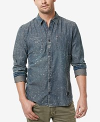 Buffalo David Bitton Men's Cotton Sandez Shirt Indigo