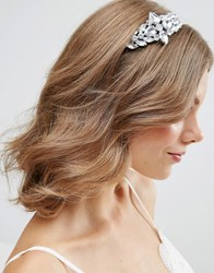 Asos Wedding Side Jewel Headband Rhodium Silver