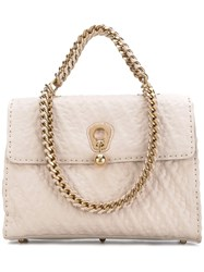 Ermanno Scervino Embellished Tote Women Leather One Size Nude Neutrals