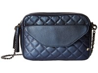 Sarah Jessica Parker King Blue Metallic Leather Cross Body Handbags
