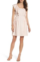 French Connection Women's Nia Fit And Flare Dress Pink Opal