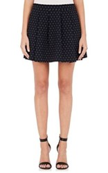 Thakoon Women's Polka Dot Pleated Miniskirt Navy