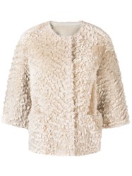 Desa 1972 Shearling Jacket Nude And Neutrals