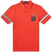 Fred Perry X Art Comes First Taped Pique Shirt Red