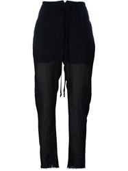 Lost And Found Rooms Tapered Sheer Trousers Black