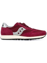 Saucony Freedom Sneakers Men Leather Nylon Rubber 9 Red