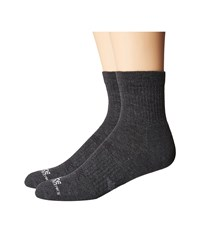 Carhartt Force Extremes Cushion Quarter 2 Pair Charcoal Men's Quarter Length Socks Shoes Gray