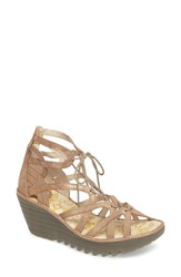 Fly London Women's 'Yuke' Platform Wedge Sandal Luna Leather