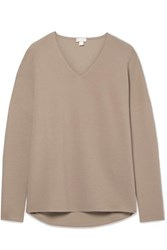 Hanro Ribbed Cotton Blend Jersey Top Brown