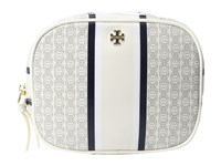Tory Burch Gemini Link Cosmetic Case New Ivory Gemini Link Stripe Cosmetic Case White