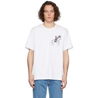 J.W.Anderson Jw Anderson White Camelot Embroidery T Shirt