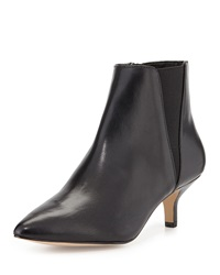 Donald J Pliner Geeo Leather Pointed Toe Bootie Black