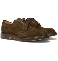 Cheaney Avon Suede Wingtip Brogues Brown