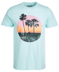 Univibe Gold Sunset Graphic T Shirt Mint