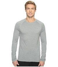 Smartwool Merino 150 Baselayer Pattern Long Sleeve Light Gray Men's Clothing
