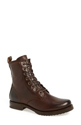 Women's Frye 'Veronica Combat' Boot Dark Brown Leather