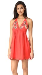 Free People Love And Flowers Dress Coral
