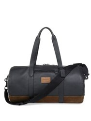 Coach Metropolitan Polished Pebble Leather Duffle Bag Black Brown