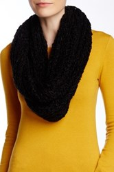 Nine West Chunky Boucle Knit Infinity Scarf Black