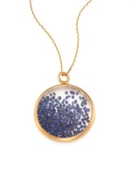 Aurelie Bidermann Blue Sapphire And 18K Yellow Gold Medallion Gold Blue Sapphire